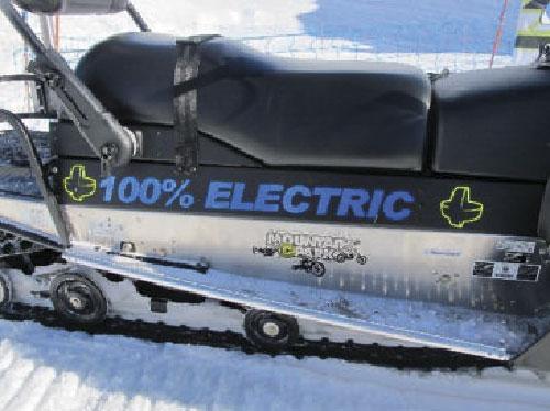 La premirère motoneige 100% électrique vendue à Avoriaz par Mountain E-Park