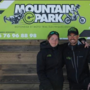Edwige et Jérémy Cousseau, créateurs de Mountain E-Park