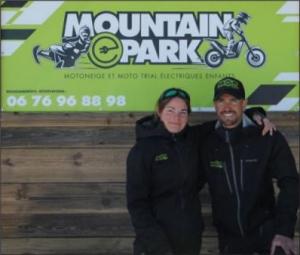 Edwige et Jérémy Cousseau, créateurs du Mountain E-Park