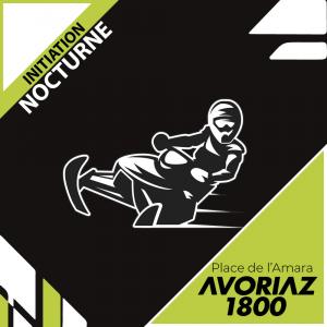 Initiation nocturne motoneige Avoriaz (Place de l'Amara)