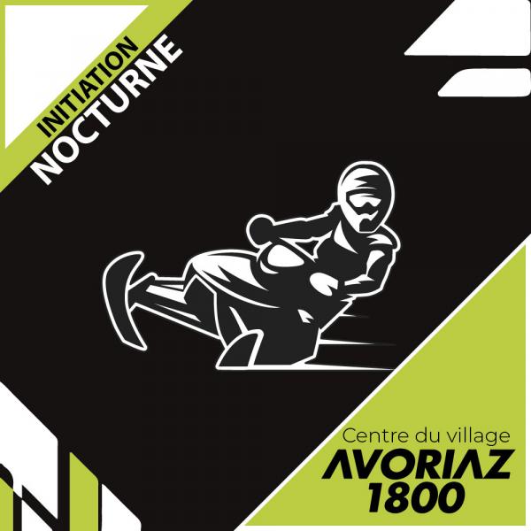 Initiation nocturne motoneige Avoriaz (Centre du village)