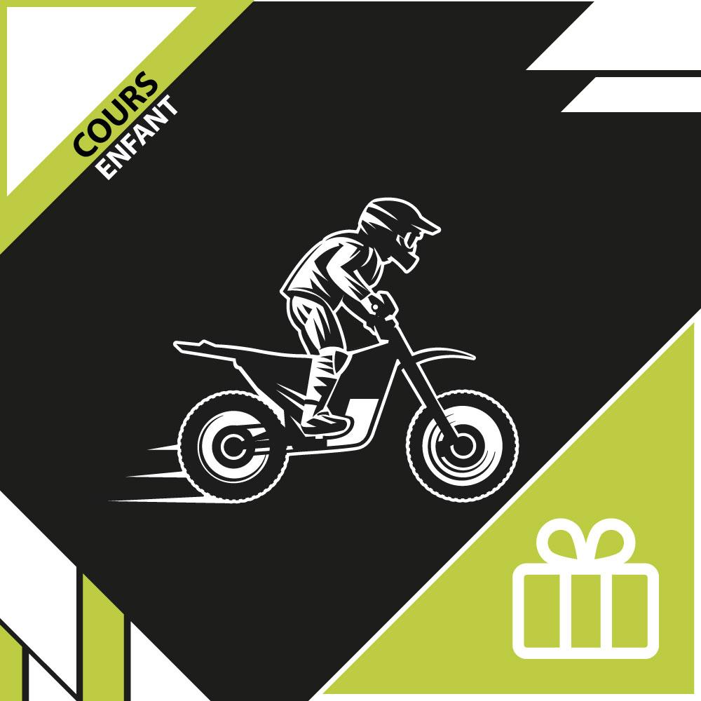 Bon cadeau - cours enfant moto