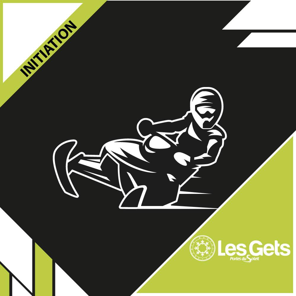 Initiation motoneige - Les Gets